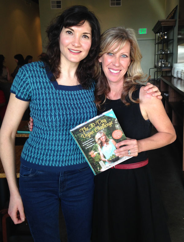 With the lovely, talented and inspiring Colleen Patrick Goudreau at her Oakland booksigning for the 30 Day Vegan Challenge