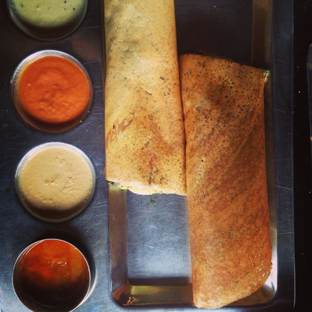 Dosas in the Misson at Udipi Palace